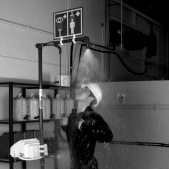 Unheated emergency safety showers