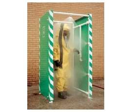 decontamination shower cleaning PPE